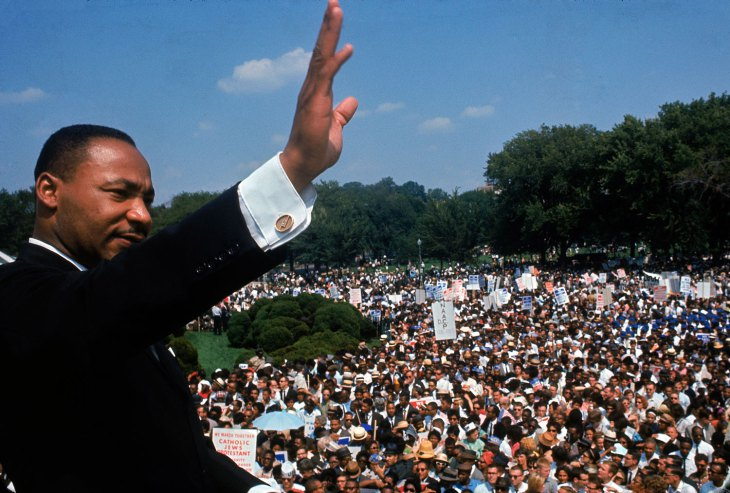 Martin Luther King Jr. addresses the crowd during the March on Washington for Jobs and Freedom, August 28, 1963. Image from LIFE magazine.