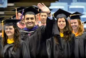Students at 2013 Winter Commencement.