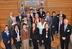 NC legislators visit the Gillings School of Global Public Health.