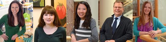 Impact award winners: Lindsey Haynes-Maslow, Jennifer Poti, Cynthia Lin, Paul Gilbert, Kari Debbink