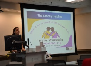 SPHG690 student presents on Project Sahaay.