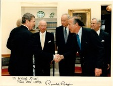 Irving Rimer meets with President Ronald Reagan