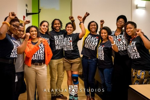 4-1-15 event group wearing blm tshirts