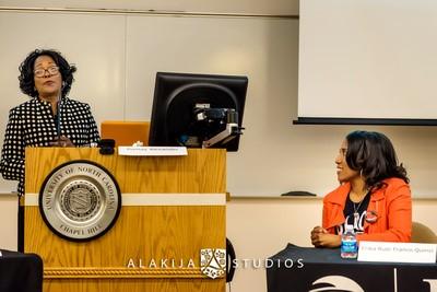 Dr. Alexander at podium - 4-1-15 event