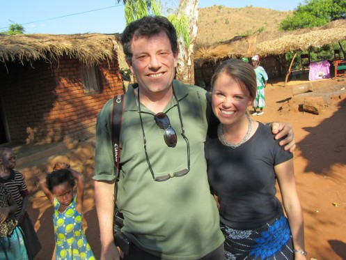 While working as a summer fellow with CARE in central Malawi., Katie McMillan (née Donohue), MPH, had the opportunity to meet NYT columnist Nicholas Kristof, author of Half the Sky: Turning Oppression into Opportunity for Women Worldwide.
