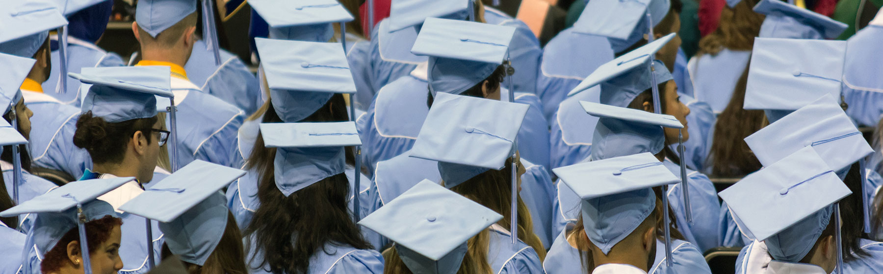 Graduates attend their commencement ceremony.