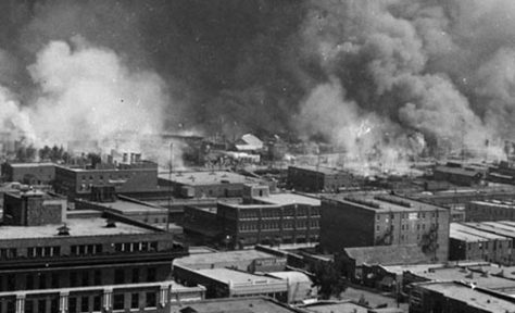 The Greenwood District of Tulsa, Okla., was burned by a white mob May 31-June 1, 1921.